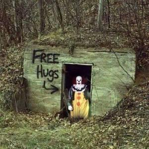 clown hug