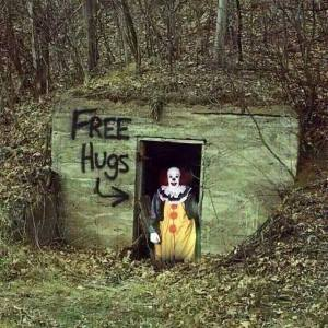 clown hug