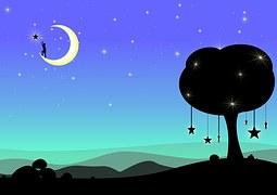 hung moon illustration